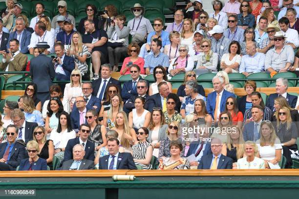 R] Denise Lewis Richard E Grant Matthew Goode Ruth Wilson Phillip Brook AELTC Chairman Arlene Foster Mary Earps Georgia Stanway Leah Williamson Lucy...