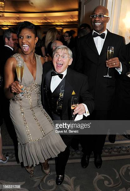 Denise Lewis Willie Carson and Ed Moses attend the Cartier Racing Awards 2012 at The Dorchester on November 13 2012 in London England