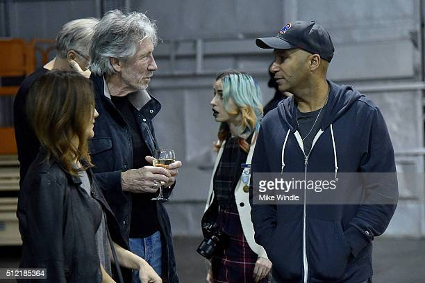 "Denise Luiso, Roger Waters and Tom Morello attend in celebration of the release of the Limited Edition box set of the film ""Roger Waters The Wall"",..."
