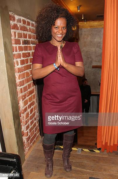 Denise M' Baye attends the NDF After Work Presse Cocktail at Parkcafe on March 19 2014 in Munich Germany