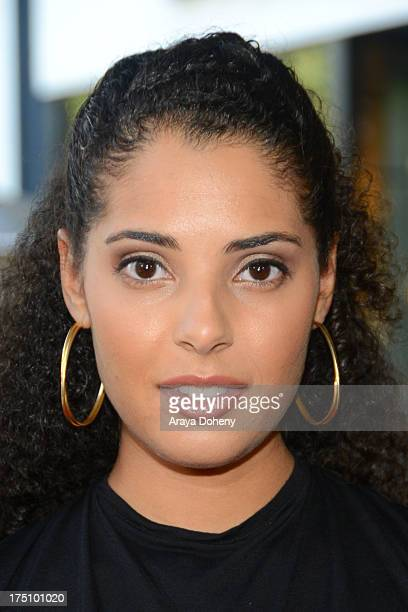 Denise Marie Xavier arrives at a special fan screening of Percy Jackson Sea Of Monsters Los Angeles Premiere at The Americana at Brand on July 31...