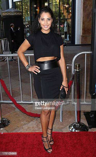 Denise Marie Xavier attends a screening of Twentieth Century Fox and Fox 2000's Percy Jackson Sea of Monsters at The Americana at Brand on July 31...