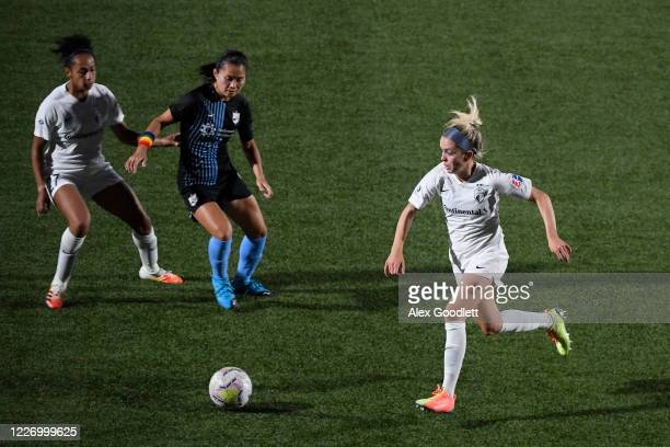 Denise O'Sullivan of North Carolina Courage chases the ball during a game against the Sky Blue FC on day 8 of the NWSL Challenge Cup at Zions Bank...
