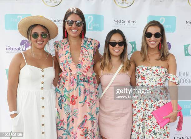 Denise Psyhogios, Carmen Lam, Nicole Sbarra-Grimes and guest attends The Inaugural Hamptons Interactive Influencer Brunch Hosted By East End Taste...