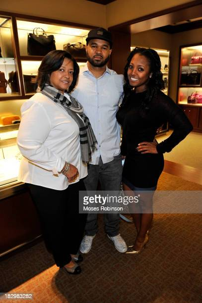 Denise Pulliam James Pulliam and actress Keshia Knight Pulliam attend Marie Claire Tiffany Co Atlanta Atlas Launch at Tiffany Co on October 2 2013 in...