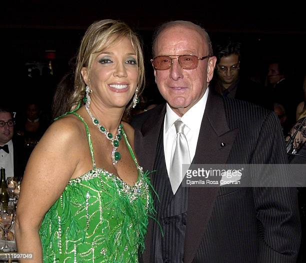 Denise Rich and Clive Davis during Chopard Supports the GP Foundation for Cancer Research Salute to The World of Entertainment and Media at the 2003...