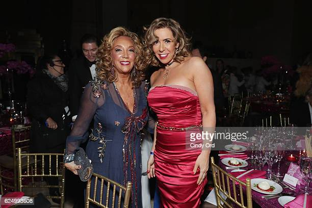 Denise Rich and Heloise Pratt attend the 2016 Angel Ball hosted by Gabrielle's Angel Foundation For Cancer Research on November 21 2016 in New York...