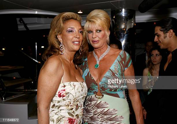 Denise Rich and Ivana Trump during 2007 Cannes Film Festival Denise Rich Event for the G P Foundation Sponsored by Audi at Private Yacht in Cannes...