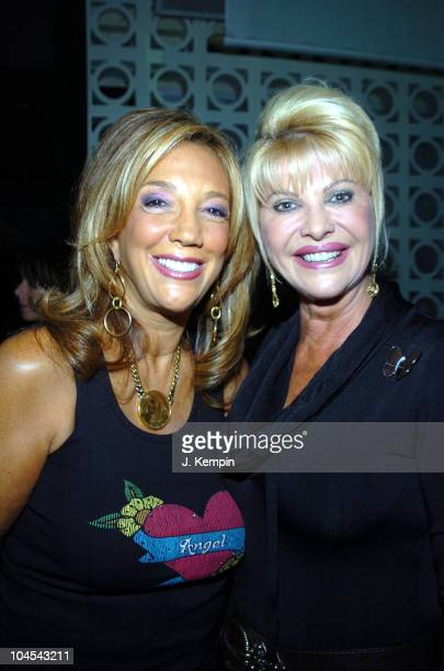 Denise Rich and Ivana Trump during The Angel Ball 2005 KickOff Launch Party at PM Lounge in New York City New York United States