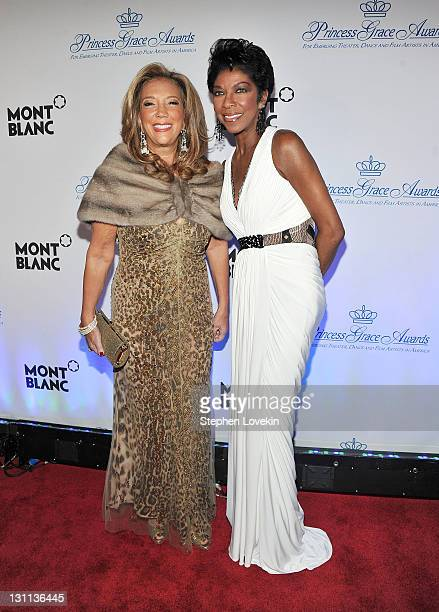 Denise Rich and Natalie Cole attend Princess Grace Awards Gala at Cipriani 42nd Street on November 1 2011 in New York City