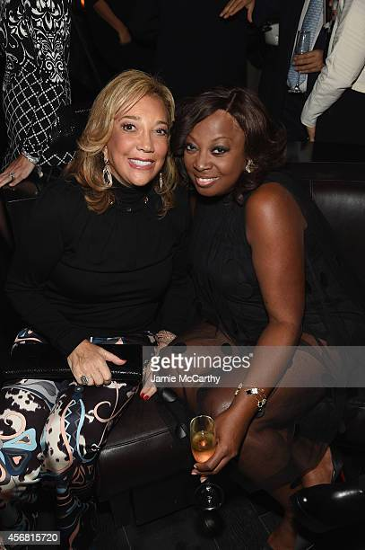 Denise Rich and Star Jones attend the Angel Ball launch party at TAO on October 7 2014 in New York City