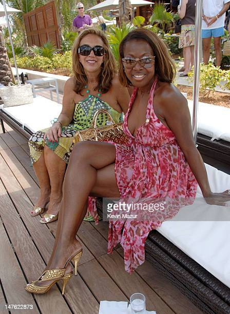 Denise Rich and Star Jones during Grand Opening Weekend of The Cove Atlantis on Paradise Island Cain at The Cove and AURA Day 1 in The Bahamas