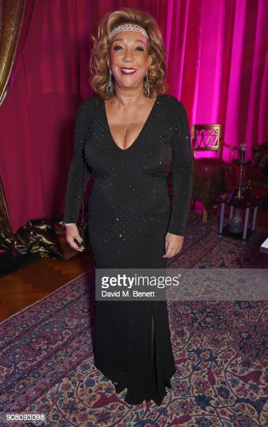 Denise Rich attends Lisa Tchenguiz's birthday party on January 20 2018 in London England