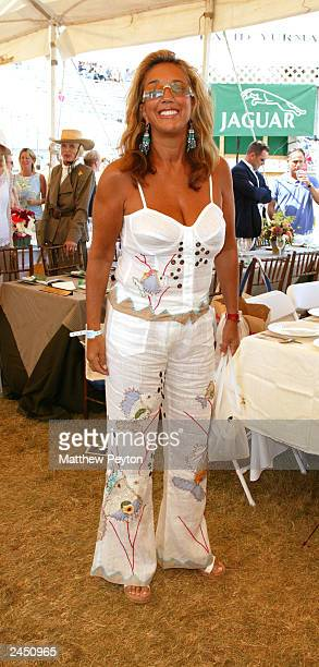 Denise Rich attends the Prudential Financial Grand Prix Hamptons Classic Horse Show August 31 2003 in Bridgehampton New York
