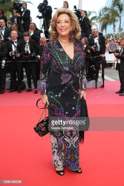 Denise Rich attends the screening of 'Everybody Knows ' and the opening gala during the 71st annual Cannes Film Festival at Palais des Festivals on...