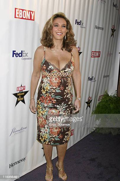 Denise Rich during Ebony Magazine's 60th Birthday Celebration And PreOscar Salute to Hollywood at Crustacean in Beverly Hills CA United States