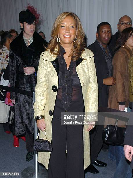 Denise Rich during Olympus Fashion Week Fall 2006 Seen Around Tent Day 1 at Bryant Park in New York City New York United States