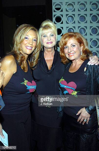 Denise Rich Ivana Trump and Michelle Rella during The Angel Ball 2005 KickOff Launch Party at PM Lounge in New York City New York United States