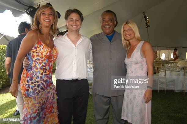 Denise Rich Jason Binn Reverend Al Sharpton and Lizzie Grubman attend A Glittering Night Under The Stars to Benefit The G P Foundation for Cancer...