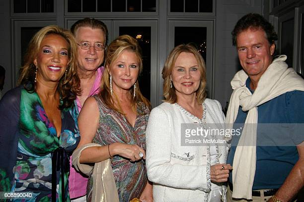 Denise Rich Kathy Hilton Cornelia Bregman and Rick Hilton attend ANDREW BORROK Hosts A Dinner for THE HUNTING PARTY at Private Residence on August 26...