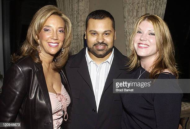 Denise Rich Ray Roc Checo and Jodi Marr during 'Deja Vu ' Cocktail Celebration Party at Denise Rich's Penthouse in New York New York United States