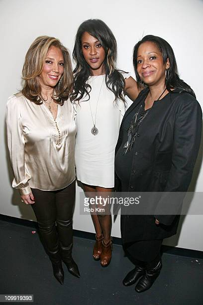Denise Rich Shontelle and Camille Hackney attend the Music Unites Girls Inc Power of One series at the Intrepid SeaAirSpace Museum on March 10 2011...