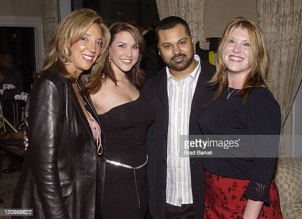 Denise Rich Tina Novak Ray Roc Checo and Jodi Marr of The Roc Project