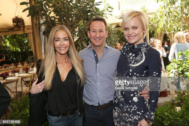 Denise Richards , Adam Waldman and his wife Dr. Barbara Sturm during the Net-A-Porter lunch at hotel Chateau Marmont on February 24, 2017 in Los...