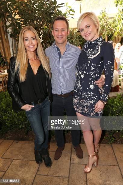 Denise Richards Adam Waldman and his wife Dr Barbara Sturm during the NetAPorter lunch at hotel Chateau Marmont on February 24 2017 in Los Angeles...