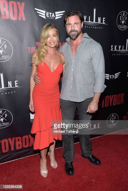 Denise Richards and Aaron Phyper attend the premiere of Skyline Entertainment's The Toybox at Laemmle's NoHo 7 on September 14 2018 in North...
