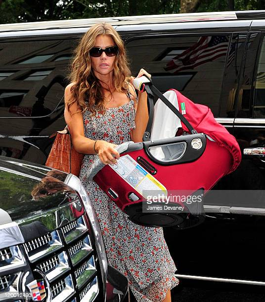 Denise Richards and daughter Eloise Joni Richards are seen on the streets of Manhattan on July 28 2011 in New York City