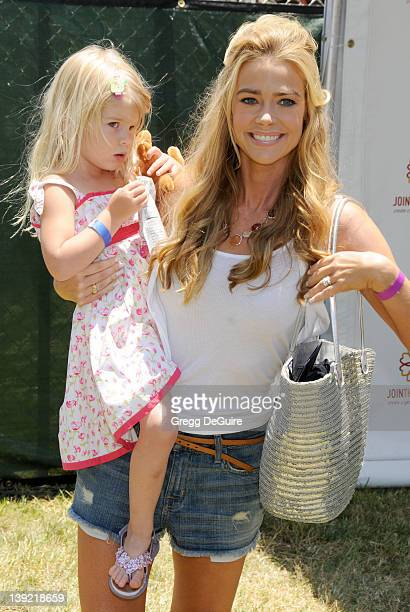 Denise Richards and daughter Lola Rose Sheen arrive for the 20th Anniversary A Time For Heroes Celebrity Carnival Sponsored By The Elizabeth Glaser...