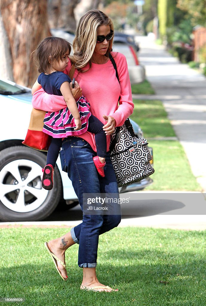 Denise Richards and Eloise Joni are seen on February 6, 2013 in Los Angeles, California.