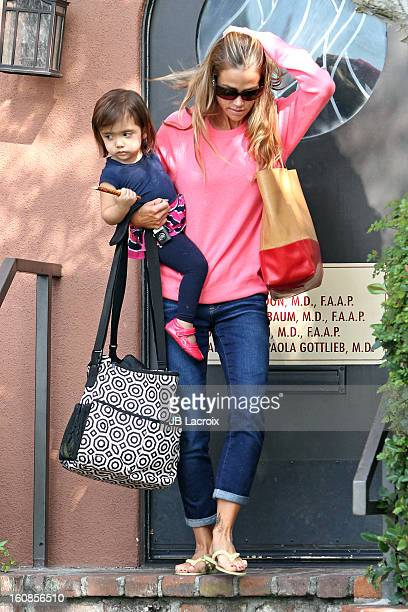 Denise Richards and Eloise Joni are seen on February 6 2013 in Los Angeles California