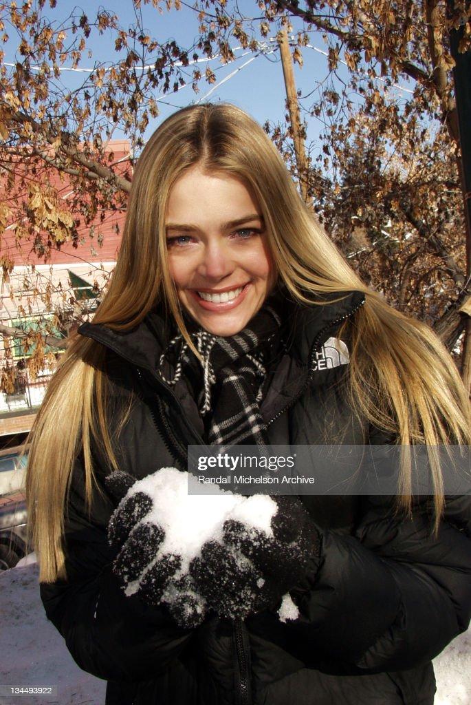 2002 Sundance Film Festival - Denise Richards Outdoor Portraits