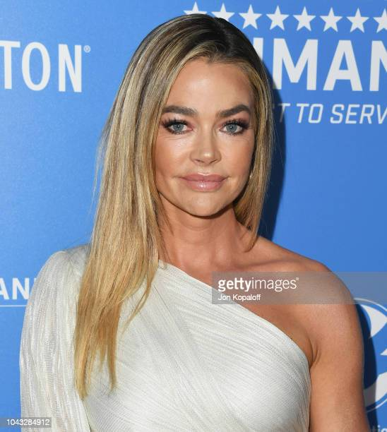 Denise Richards attends American Humane's 2018 American Humane Hero Dog Awards at The Beverly Hilton Hotel on September 29 2018 in Beverly Hills...