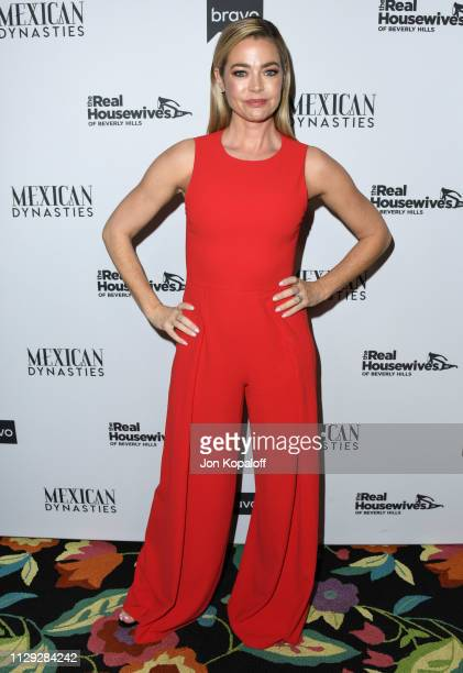 """Denise Richards attends Bravo's Premiere Party For """"The Real Housewives Of Beverly Hills"""" Season 9 And """"Mexican Dynasties""""at Gracias Madre on..."""
