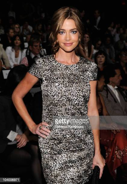 Denise Richards attends the Vivienne Tam Spring 2011 fashion show during MercedesBenz Fashion Week at The Theater at Lincoln Center on September 11...