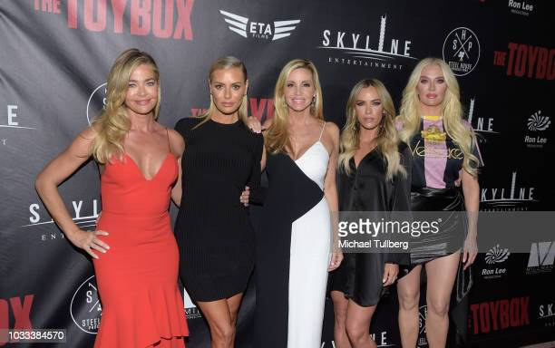 Denise Richards Dorit Kemsley Camille Grammer Teddi Mellencamp Arroyave and Erika Jayne attend the premiere of Skyline Entertainment's The Toybox at...