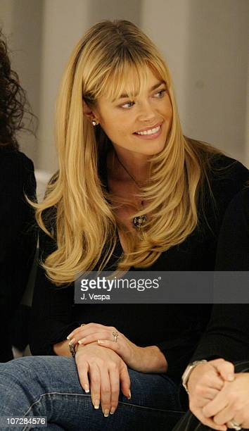 Denise Richards during MercedesBenz Shows LA Fashion Week Spring 2004 Nom By Jennifer Noonan Backstage and Front Row at The Standard Downtown LA in...