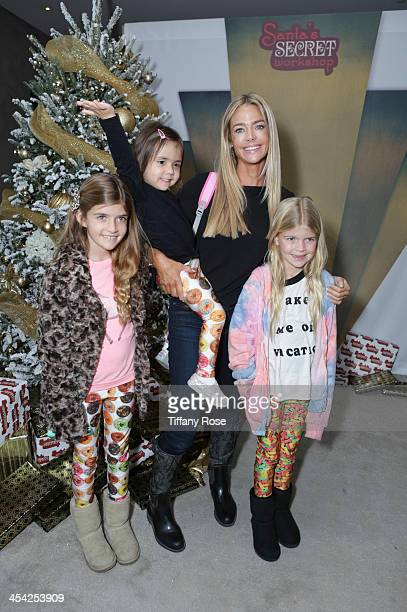 Denise Richards Eloise Richards Lola Sheen and Sam Sheen attend the 3rd Annual Santa's Secret Workshop Benefiting LA Family Housing at Andaz Hotel on...