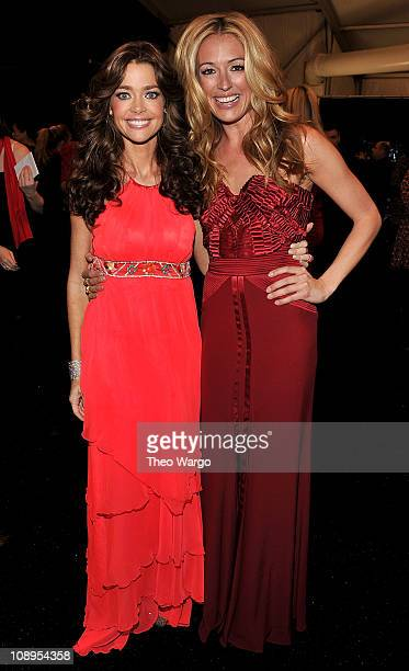 Denise Richards L0 and Cat Deeley attend the Heart Truth's Red Dress Collection 2011 during MecerdesBenz fashion week at The Theatre at Lincoln...