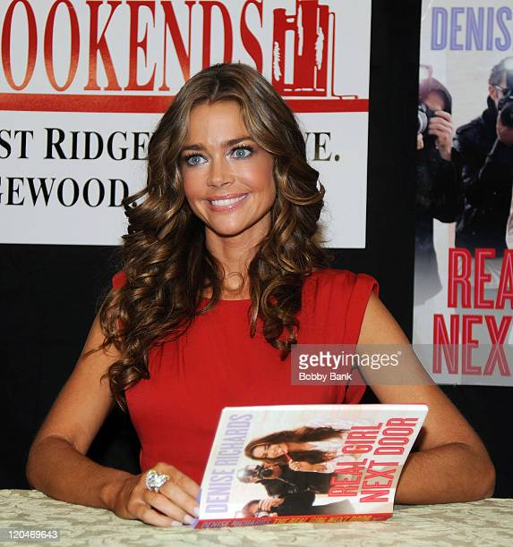 """Denise Richards promotes the new book """"The Real Girl Next Door"""" at Bookends Bookstore on July 27, 2011 in Ridgewood, New Jersey."""