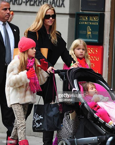 Denise Richards Sam Sheen Eloise Joni Richards and Lola Rose Sheen are seen on Madison Avenue on November 1 2012 in New York City