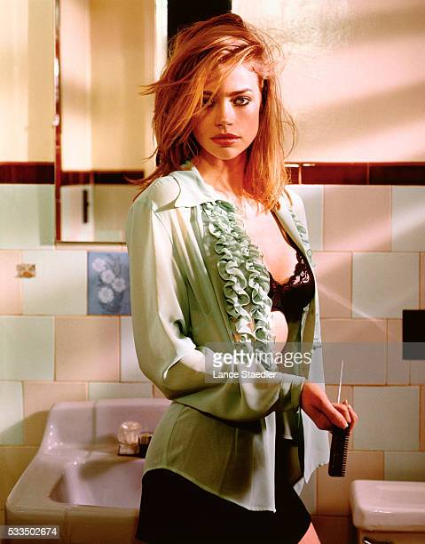 Denise Richards Standing in Bathroom