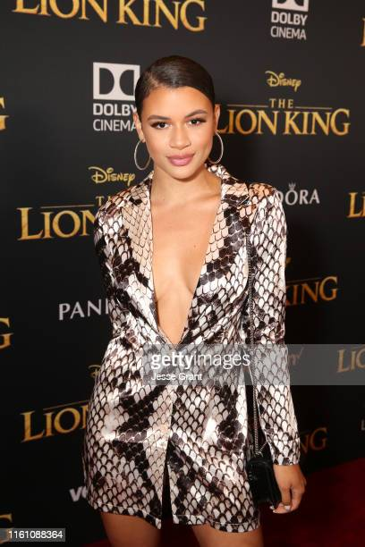 """Denise Rodriguez attends the World Premiere of Disney's """"THE LION KING"""" at the Dolby Theatre on July 09, 2019 in Hollywood, California."""