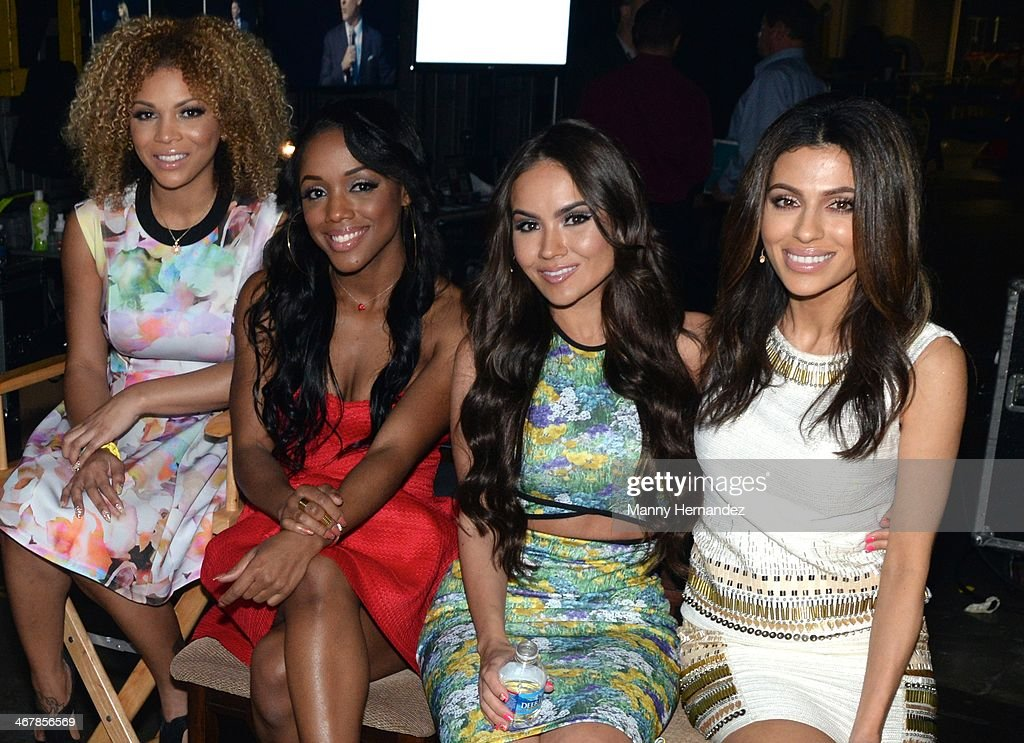 Denise Sanchez, Ellarie Noel, Maryam and Teni Panosian at the 2014 Market America World Conference at American Airlines Arena on February 8, 2014 in Miami, Florida.