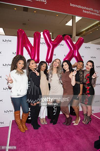 Denise Sanchez Kennedy Knight Maryam Maquillage CiaooBelllaxo Amy Pham Amanda Ensing and Shameless Maya attend the NYX Professional Makeup Store...