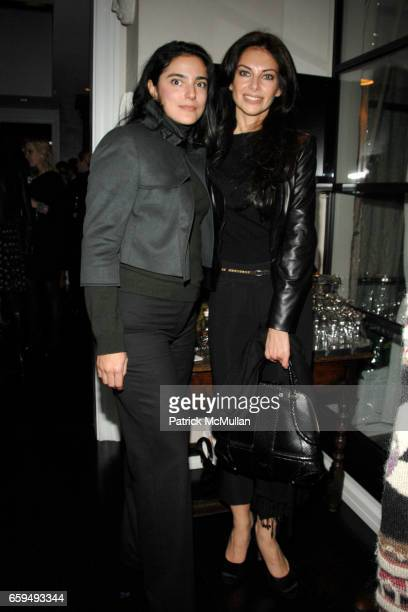 Denise Scala and Alaya Barsano attend OCEANA New York Launch hosted by Alexander and Brenda von Schweickhardt sponsored by TIFFANY Co at Private...