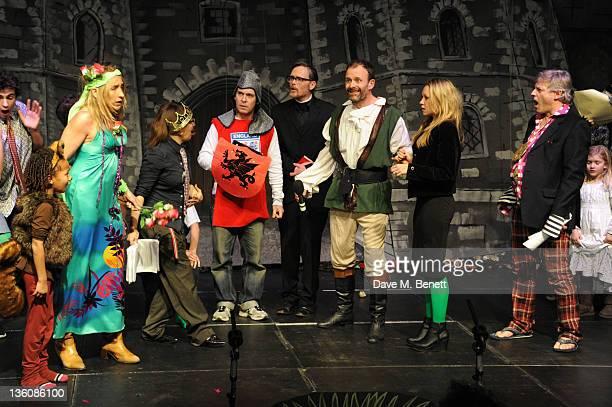 Denise Stephenson Juliet Cowan Tom Hollander William Smith Harry Burton and Queenie Ingrams perform in the Portobello Road Christmas Panto Robin Hood...